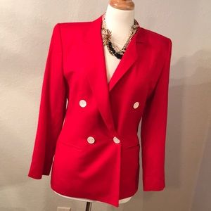 Vintage red blazer size 4 David Brooks vintage